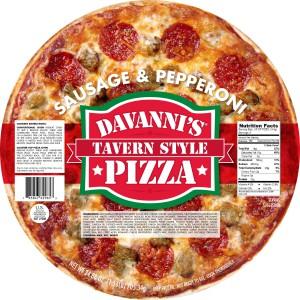 Davanni's Frozen Pizza - Sausage and Pepperoni