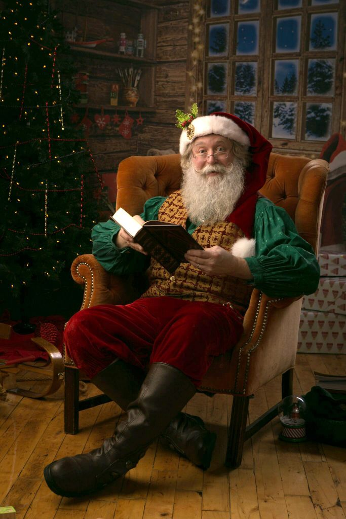 Santa Reading Book