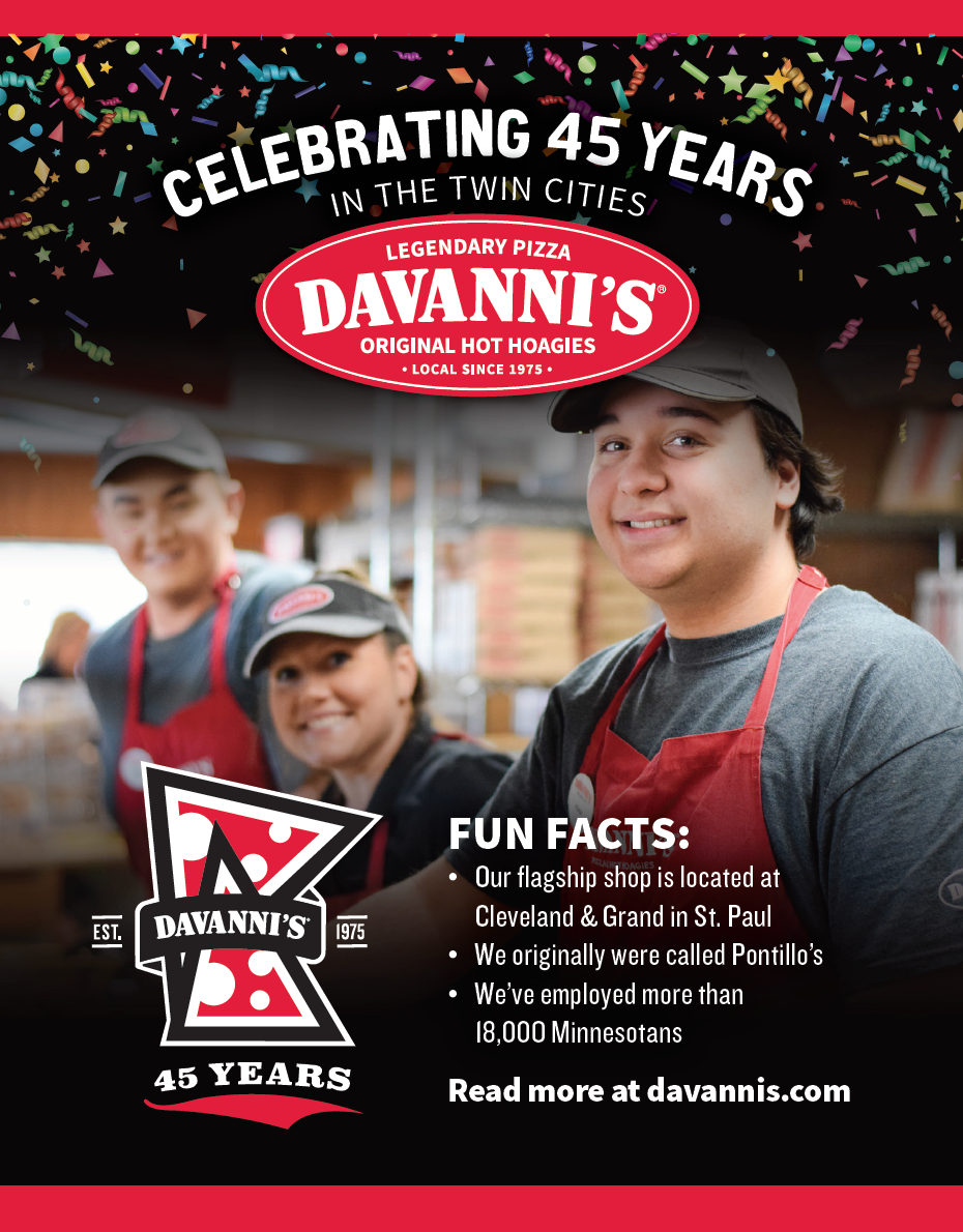 Davanni's Celebrating 45 Years in the Twin Cities