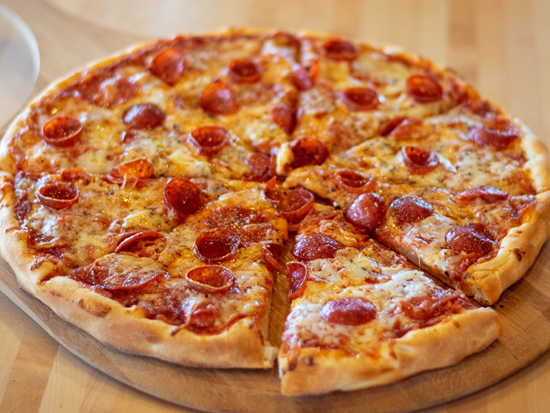 Old World Style Pepperoni Pizza